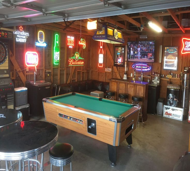 Badass Manly Garage Man Cave And Easy Bar Best Man Cave Ideas