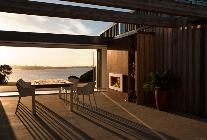 Outdoor cooking and wood fireplace