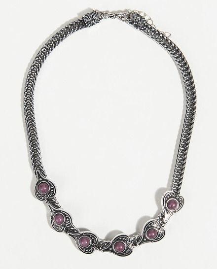 2e8d1f99b5c4 Collar Parfois corto con piedras en morado