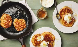 Thomasina Miers' winter drop scones with dried apricots, honey and saffron.