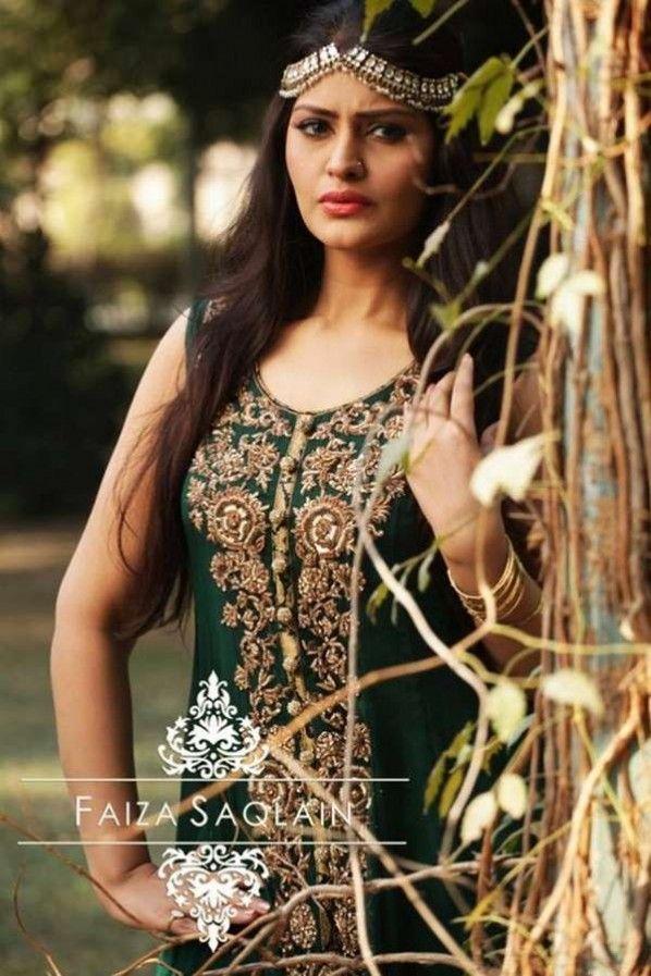 Faiza Saqlain Wedding Evening Dresses & Maira Khan Photos-02