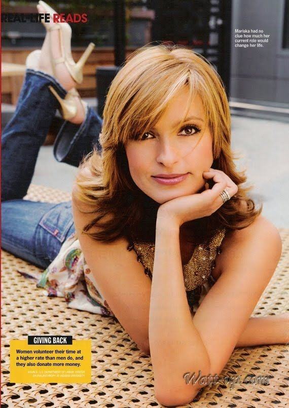Mariska Hargitay- love the hair color!