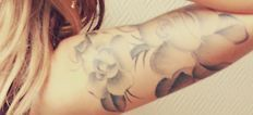 this is the style i want for my sleeve...soft black and gray