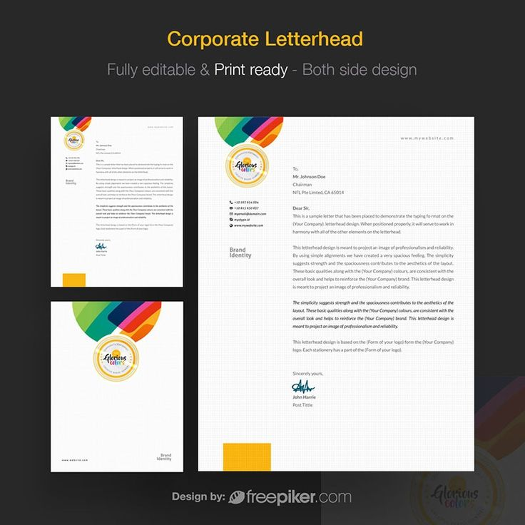 The 25+ best Professional letterhead template ideas on Pinterest - letterhead template