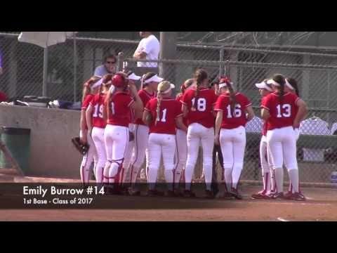 CA Varsity High School Softball: Great Oak Wolfpack vs La Serna. Burrow,...