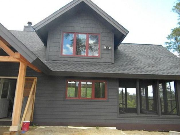 Lp Smartside Shakes Corners Lap Siding And Trim Prefinished In Diamond Coat Coffee Windows Are Marv Siding Options Lake Houses Exterior Rustic Houses Exterior