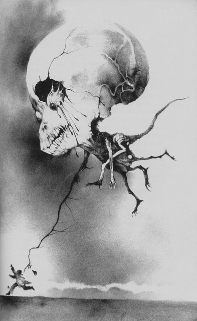 """Stephen Gammell- illustrated """"Scary Stories to Tell in the Dark"""""""