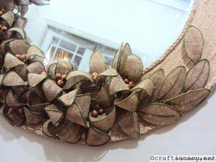 Гибкие цветы из мешковины для декора