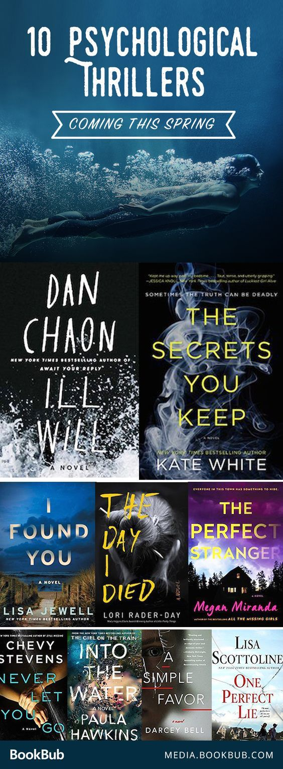 10 suspenseful psychological thriller books to read. Add these to your 2017 reading list!