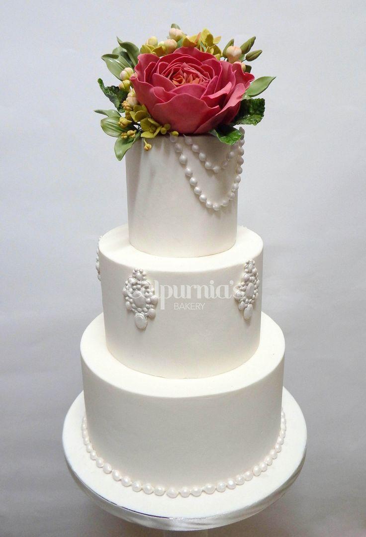 Wedding cake perls Fondant, sugar flowers