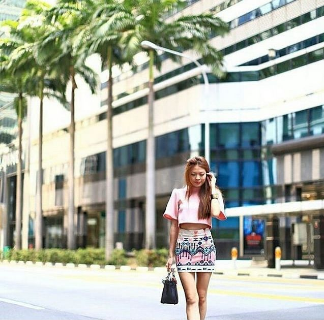 Chic Redefines!  Dress like you already as famous as our Singaporean Blogger Crush, Ms @melodyyap || www.jolie-clothing.com