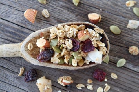 Crunchy Quinoa Granola-Recipe from www.twopeasandtheirpod.com