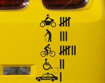 Accident Hit Kill Count Funny Bumper Sticker Vinyl Decal JDM - Vinyl bumper stickers