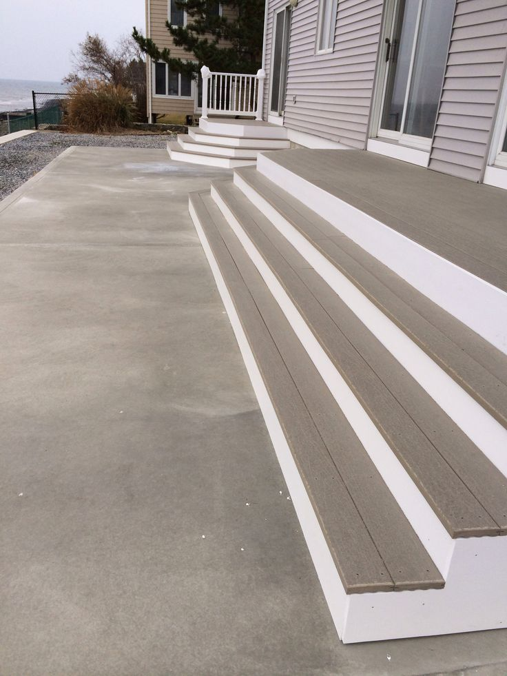 9 best images about exterior home improvements decks siding trim on shoreline ct on for Composite exterior stair treads