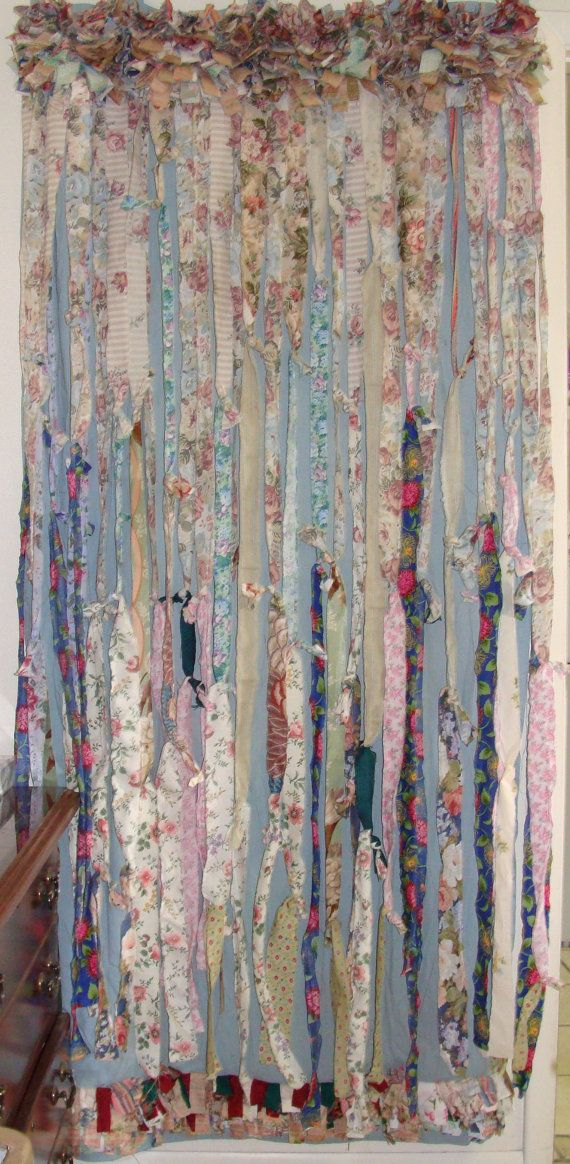 Shabby Chic/Boho/Boho Gypsy Curtain by BohoBagsNThings on Etsy
