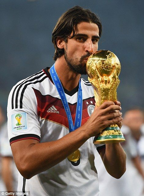 Sami Khedira of Germany with the World Cup