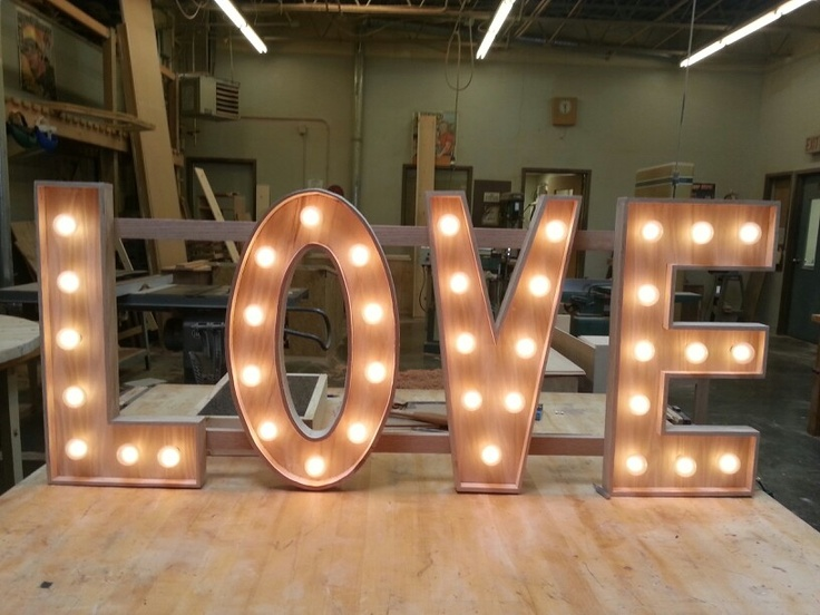 Wooden Marquee Love Sign