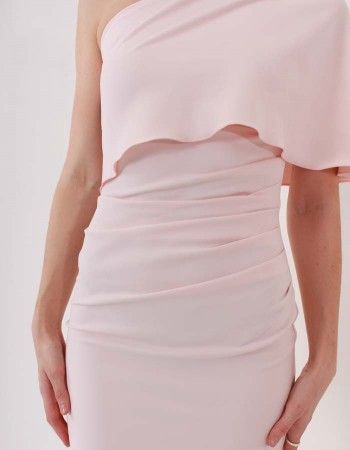 Kevan Jon Pink Wilson Knee Dress | Accent Clothing