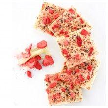 Strawberry Amaretti Crunch White Chocolate Bar