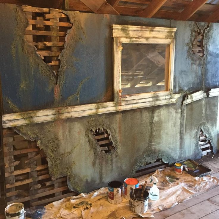 61 best images about hh facade on pinterest facades for Haunted house scene ideas