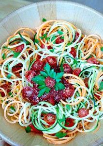rohe gemüse spaghetti