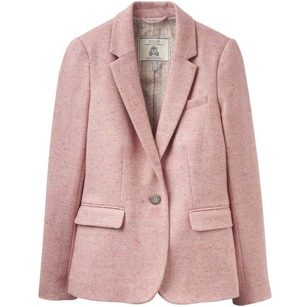 Women's Joules Horatia Tweed Jacket (445 PEN) ❤ liked on Polyvore featuring outerwear, jackets, joules jackets, checked jacket, single breasted jacket, checkered jacket and tweed jacket
