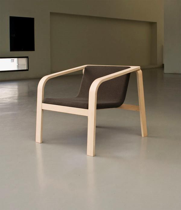 plywood chair design which can be located in both outside and inside