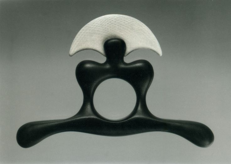 Istvan HOLLO: Ring 1993, Ebony, ivory. Museum of Applied Arts, Budapest.