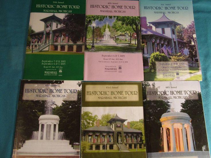 Historic Marshall Michigan Home Tour Brochures