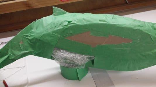 Paper Mache Humpback Whale Sculpture Tutorial – Guest Post