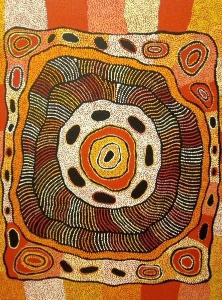 Aboriginal art - Elizabeth (Nellie) Marks Nakamarra ~ Travelling Women