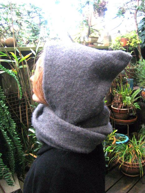 HOODIE SCARF IN 5 MINUTES FROM AN OLD SWEATER - All