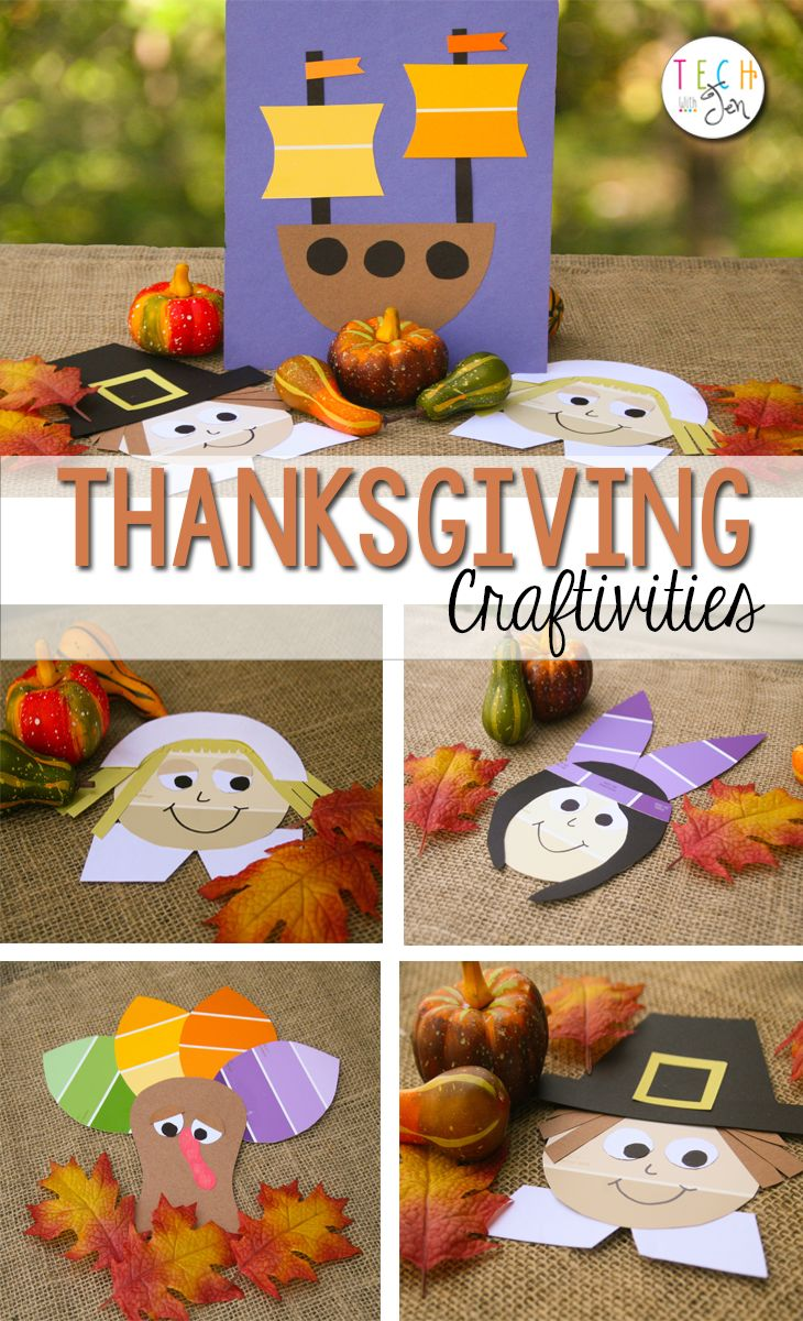 These are so cute! They are perfect for my Thanksgiving unit. #thanksgiving #kidscrafts