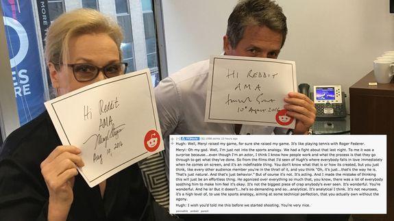 Meryl Streep and Hugh Grant's Reddit AMA was both revealing and so hilariously British