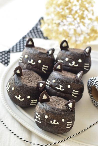 「黒猫のチョコパン」はつみ | お菓子・パンのレシピや作り方【cotta*コッタ】