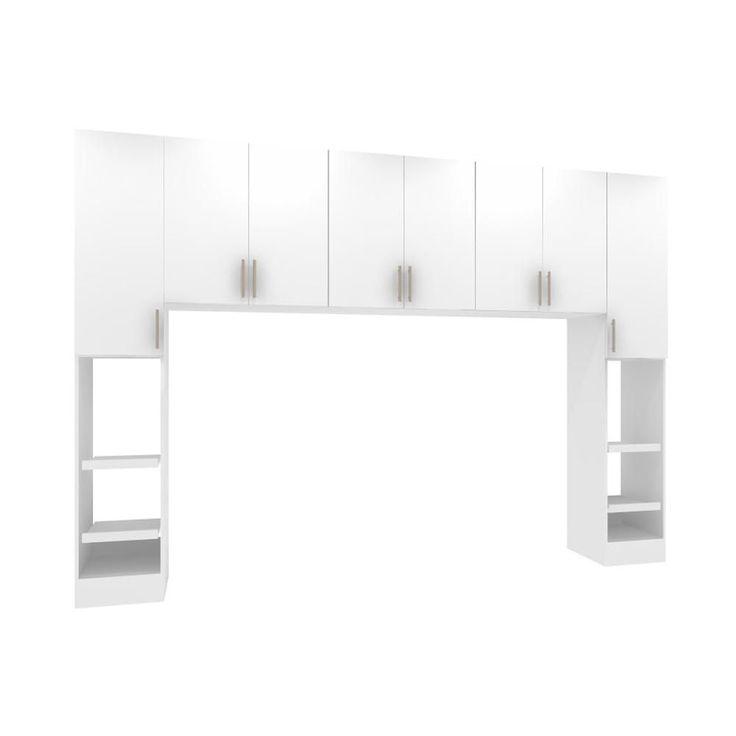 Horizon White King Size Bed Surround Cabinets