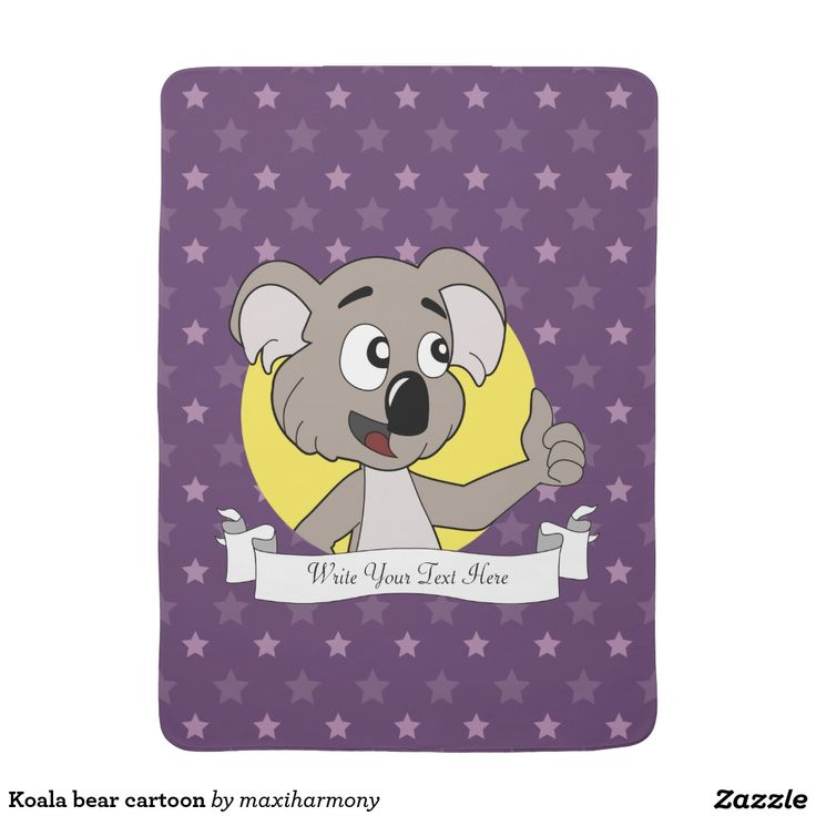 Koala bear cartoon baby blanket