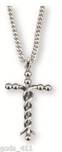 "Cross Laminin (Col 1:17) Silver Plated Necklace with 18"" Chain & Card MM2645"