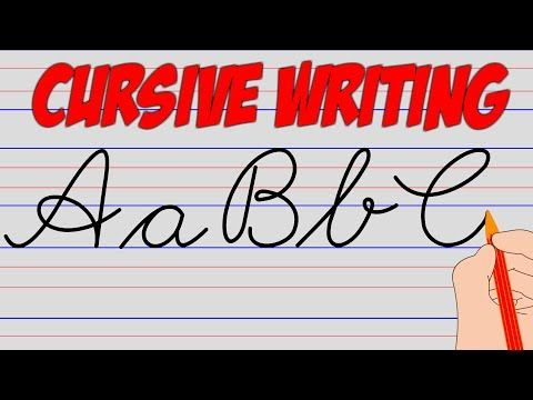 (79) Cursive Writing A to Z - Improve Your Handwriting | small & capital letters for kids and beginners - YouTube