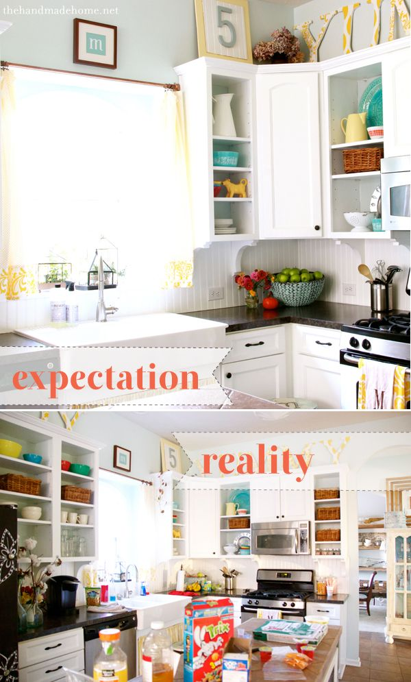 such a great post on expectation vs. reality in home decor