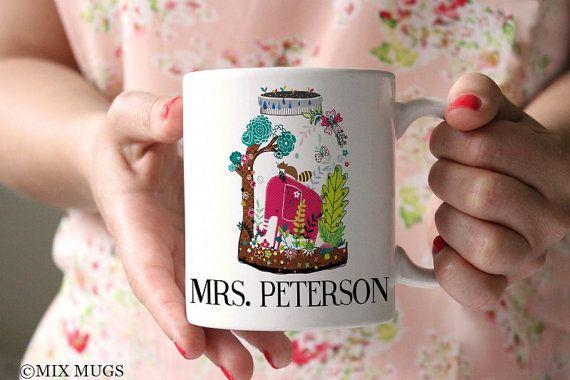 Mugs for Teachers Personalized Teacher Mug Gift for Teachers Elephant Mug Teacher Appreciation Gift Elephant Gifts Teacher Gift Tea Mug T911