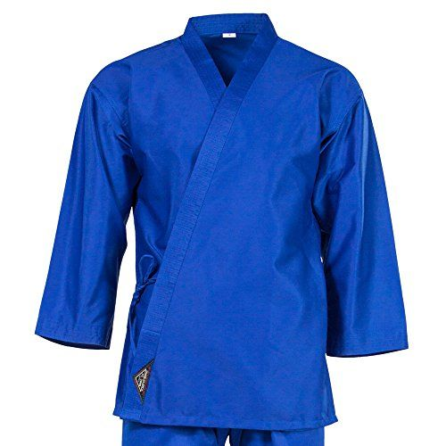 Tiger Claw 7.5 Oz Karate Uniform Light Weight Blue Top Only #4 Tiger Claw