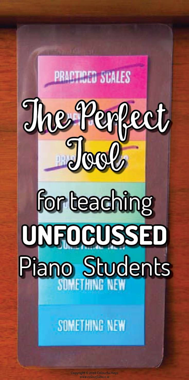 Piano lesson focus tool