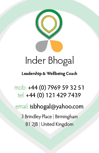 Business Card for a Life- and Leadership Coach (2012): Business Card