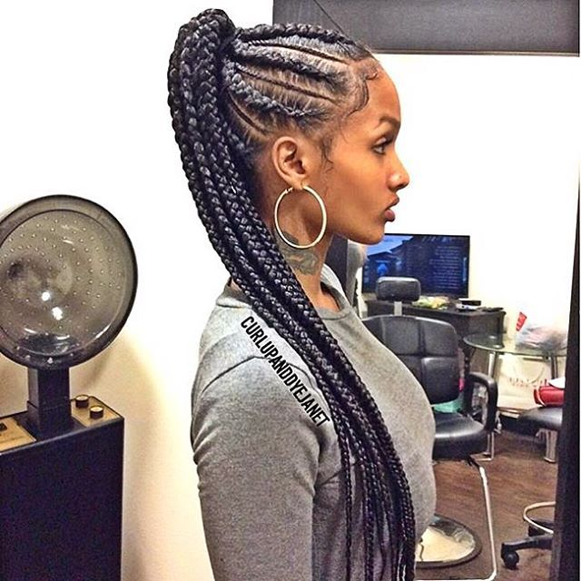 Love this braided style💙 So simple and cute👌🏾 #lastylist @curlupanddyejanet…