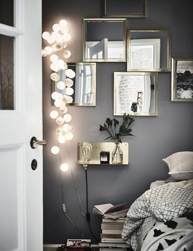 Une déco lumineuse pour la chambre en hiver.