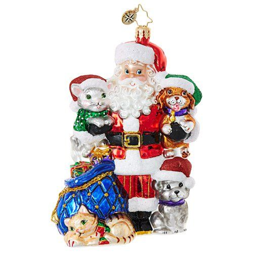 Christopher Radko Ornament - Paws for Claus