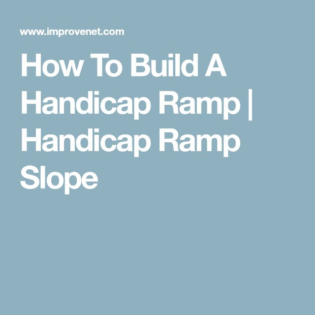 How To Build A Handicap Ramp | Handicap Ramp Slope