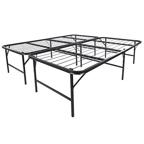 """Easy to Assemble Bed Frame is a new convenient mattress foundation solution by Belleze with the Easy to Assemble Bed Frame. The easy to assemble bed frame provides increased mattress support, portability, easy setup and 17"""" clearance for under bed storage. Easy to Assemble Bed Frame by... more details available at https://furniture.bestselleroutlets.com/bedroom-furniture/beds-frames-bases/bed-frames/product-review-for-belleze-foldable-bed-frame-king-size-platform-size-ma"""