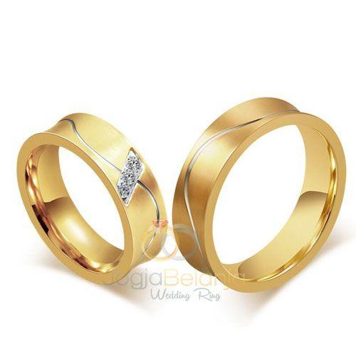 Cincin Kawin Afzara Perak Lapis emas sepasang